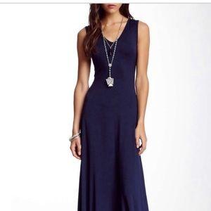 Go Couture Navy Blue Maxi Dress